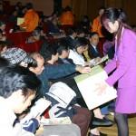 中場休息為南亞地震及海嘯影響的災民進行募捐活動