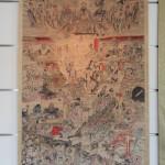 展示澳門吳慶雲道院珍藏清代工筆天地水府諸仙神神像畫